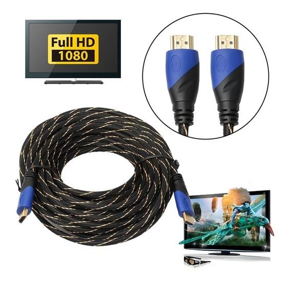 Cabo Hdmi V1.4 Conexão Av 1080 Ps3 Xbox Hd 3d P/hdtv 15 Mt.