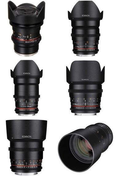 Rokinon Cine Ds - Sony E 14mm, 24mm, 35mm, 50mm, 85mm, 135mm