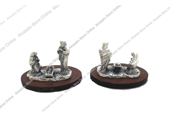 Mini Pesebre Navidad 3 Figuras Souvenirs Alpaca Jesus