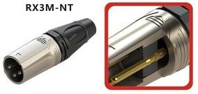 Plug Microfone Xlr / Canon - Macho - Roxtone