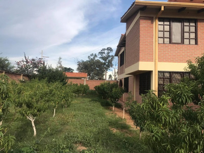Casa De Campo En Venta; Cochabamba Zona Carcaje