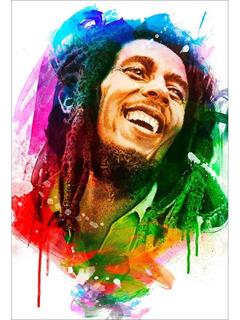 Placa - Quadro - Decorativo - Bob Marley - Reggae - (v235)