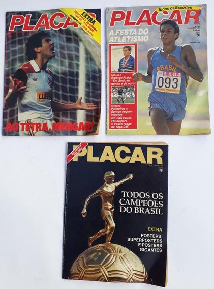 Placar 1984 Abril Com 3 Revista Raras Antigas Frete Grátis