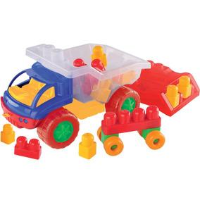 Carrinho De Brinquedo Caminhão Blocos De Montar Educativo