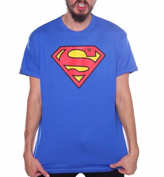 Playera Logo Superman Azul Rey