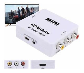 Adaptador Hdmi A Rca Video Ps4 Convertidor Tv Antigua Cable