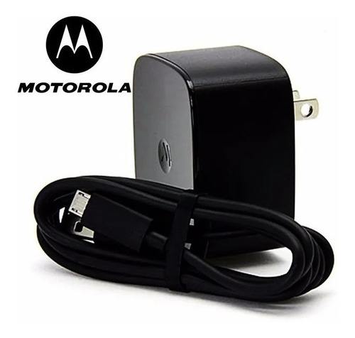 Combo Turbo Cargador Home Charger + Motorola V8 Negro 5v