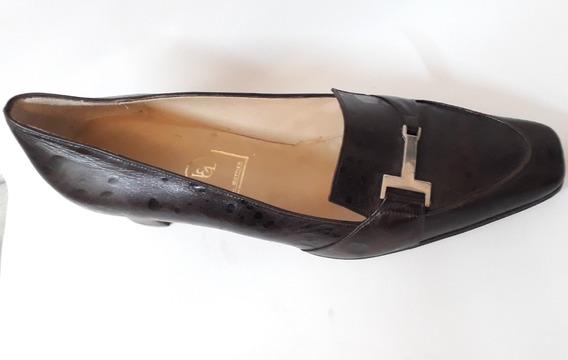 Zapato Tipo Mocasim Numero 40 Cuero