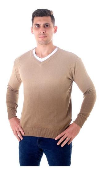 Blusa Suéter Masculino Degradê Gola V 100% Algodão Fabrica