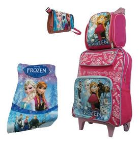 Mochila Bolsa Escolar Infantil Frozen Com Rodinhas Barato