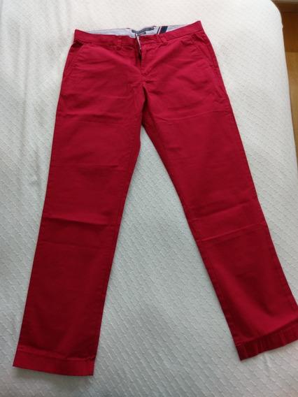 Pantalon Th Rojo Algodon 100%