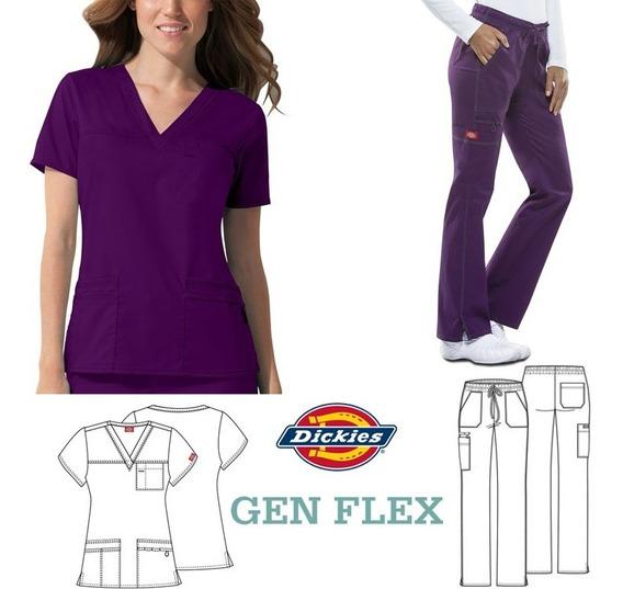 Ambo Completo Dickies Gen Flex Mujer Spandex Importado Usa