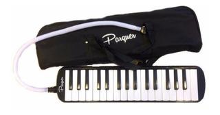 Melodica A Piano Parquer 32 Notas Negra Con Funda Manguera