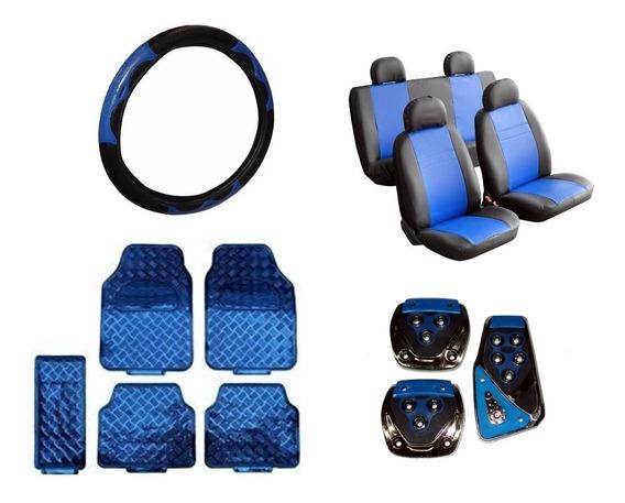 Kit Azul - Capas De Courvin + Tapetes + Volante + Pedaleiras