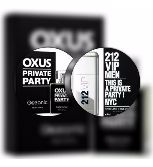 Perfume Oxus - Inspirado No 212 Vip