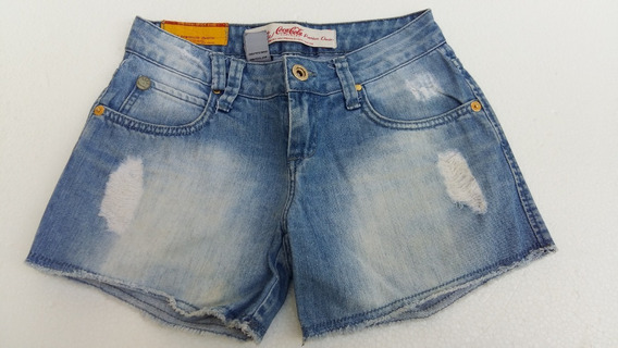 Shorts Bermuda Feminina Coca Cola Jeans Nº34 Original Usada