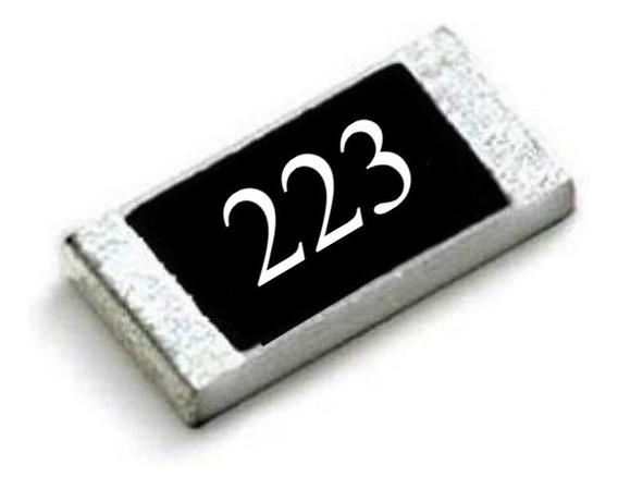 22k Ohms (25 Unidades) Resistor Smd 0805 (2,0mm X 1,2mm)