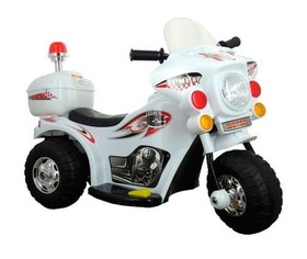 Mini Moto Elétrica Infantil Bw002 2 A 4 Anos - Branca