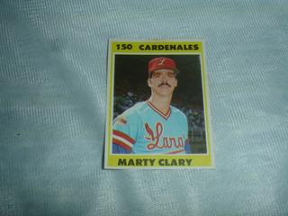Barajita De Beisbol Venezolano 1987 Marty Clary