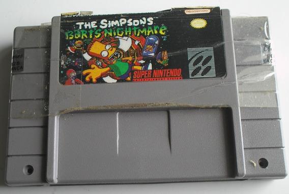 The Simpsons Bart Nightmare Super Nintendo Paralela Usada