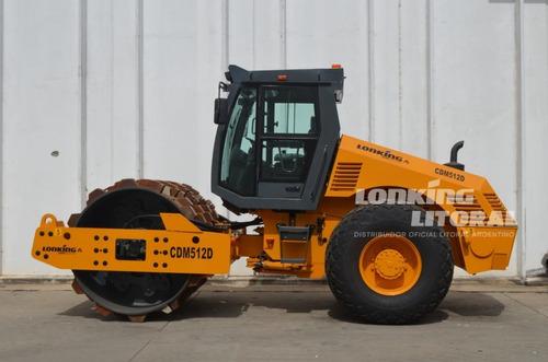Rolo Vibro Compactador Rodillo Lonking Cdm512 12 Tn