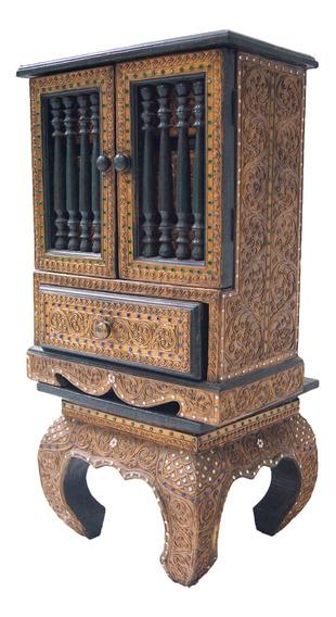 Porta Joias De Chão Com 4 Gavetas Indiano 70cm