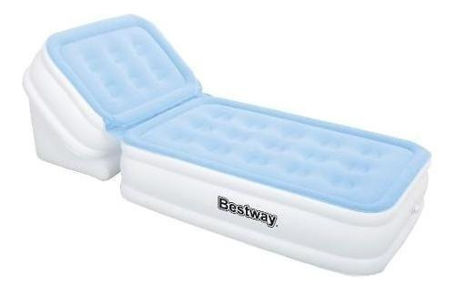 Colchon Inflable Con Reposera Ajustable Bestway, 67386