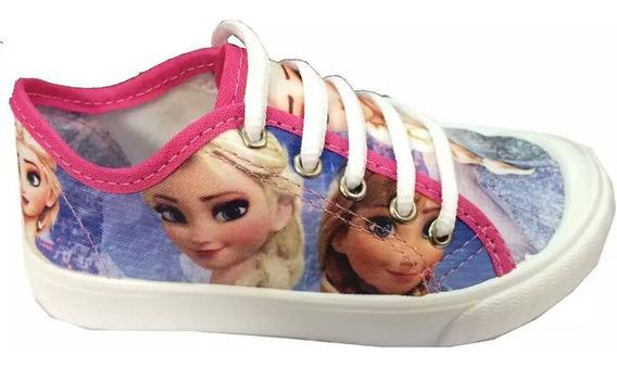 Tênis Infantil Frozen Cadarço Princesa 27 28 Menina