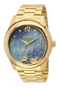 Relógio Condor Feminino Co2039ad/4a - Azul Lindo De Vitrine