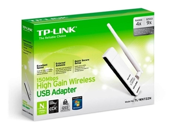 Adaptador Usb Wireless N 150mbps 1 Antena 4dbi Tp-link