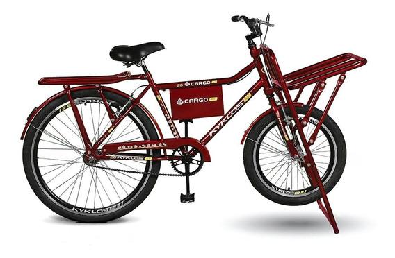 Bicicleta Aro 26 Cargo 4.7 A-36 V-brake Vermelho Kyklos