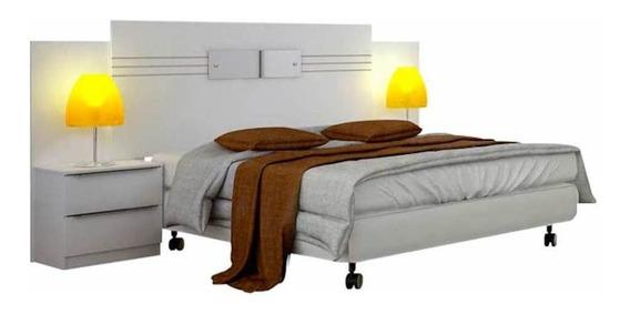 Cabeceira de cama box Novo Horizonte Plenus Casal 260cm x 121cm branca