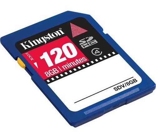 Imagem 1 de 2 de Cartão De Memória Sdhc Kingston 8gb Sdv