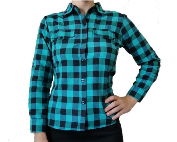 Camisas Entalladas Cuadros Mujer Camisas Escocesas