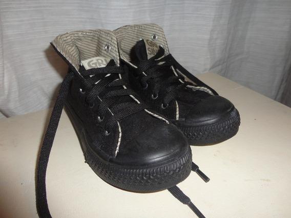 * Grisino * Originales. T 28 . Zapatillas Unisex * Botitas T/ Converse Negras Terciopelo Suave Peluche Plush