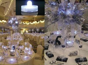 12 Velas Led Sumergibles Blancas Frias Luminosos Cotillon