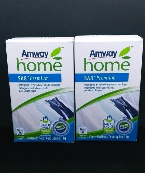 2 Sabão Em Pó Concentrado Sa8 Detergente Biodegradável Rende- 1 Kg Rende Até 36 Lavagens Tira Manchas Dificeis Tecidos