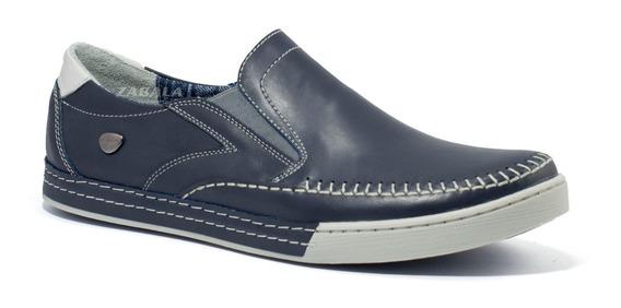 Zapatos Hombre Cavatini Mocasin Nautico Confort Cuero Vacuno