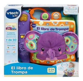 Libro De Trompa Elefante Didáctico Tela C Luz Sonido Vtech