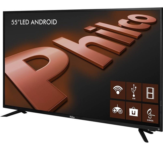 Smart Tv Led 55 Philco Ultra Hd 4k Com Conversor Digital 3