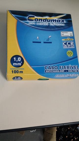 Cabo Fio Flexivel Antichama 450/750v 1,0mm Verde 100m Fio 1mm