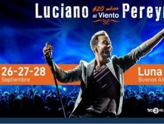 Entrada Recital Luciano Pereyra 26-09-19