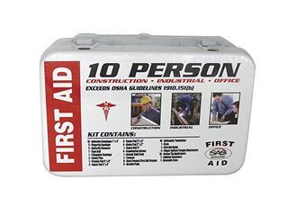 Seguridad Sas 6010 A 01 De 10 Personas Kit De Primeros Auxil