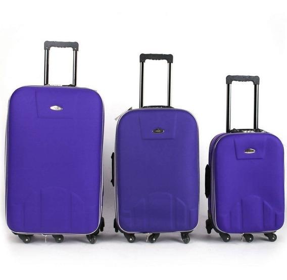 Kit Conjunto 3 Malas De Viagem Com 7 Rodinhas Promoção