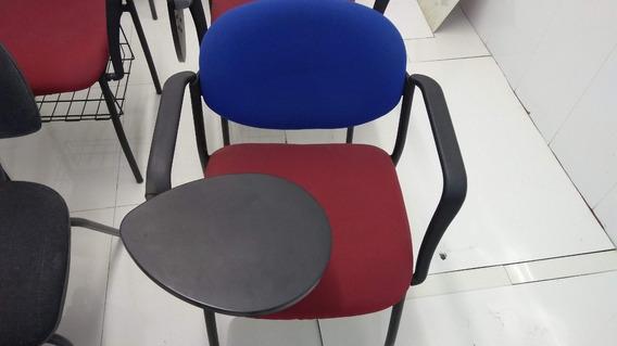 Cadeira Universitário Almofadada Compartimento De Livros