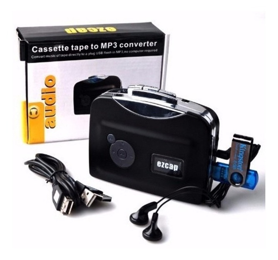 Conversor Leitor Fita Cassete K7 P/ Mp3 Usb Grava Pen Drive