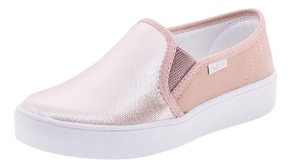 Tênis Infantil Feminino Slip On Pink Cats - V0441 Rosa