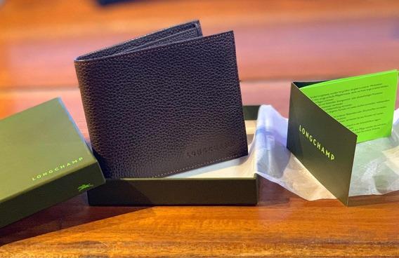 Cartera Billetera De Piel Longchamp Original Para Hombre