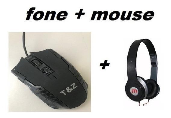 Kit 2 Headphone + 2 Mouse Gamer X7