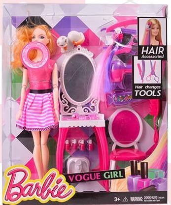 5ce6e93fd3 Muñeca Barbie Super Articulada - Peluquera Vogue Girl Oferta - $ 989 ...